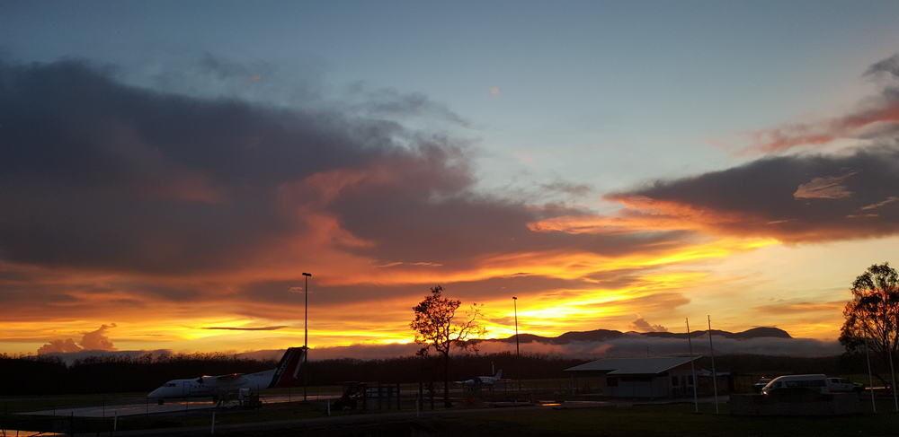 Stunning sunset over Lockhart River Aerodrome